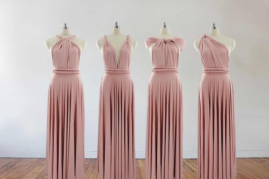 734a913800 blush pink bridesmaid dress long bridesmaid dress bridesmaids dresses long dress  infinity dress convertible dress maternity gown party dress