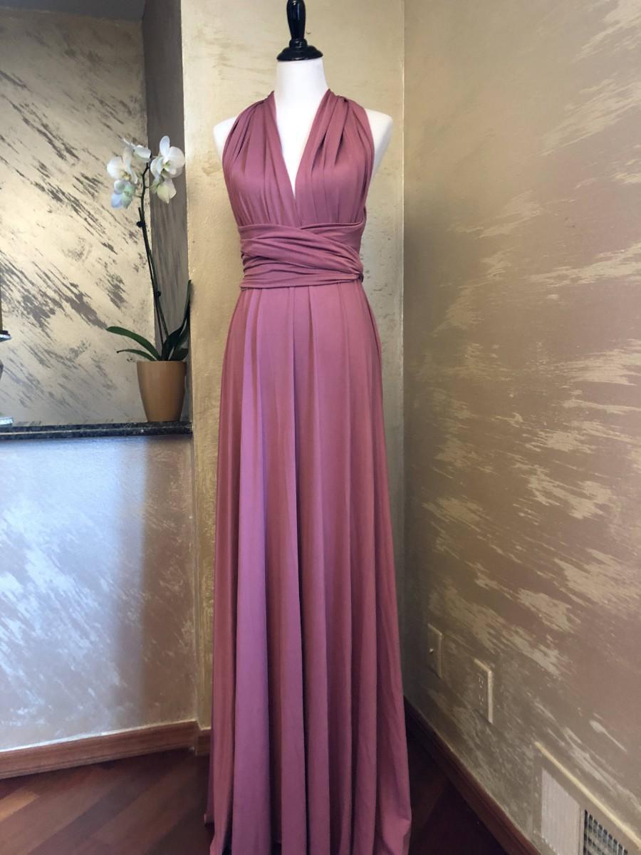 "Mariage - Hottest 2018 Bridesmaid Dress Color ""Nostalgia Rose"" Bridesmaid Infinity Dress Dusty Rose Floor Length Maxi Wrap Convertible Dress Dress"