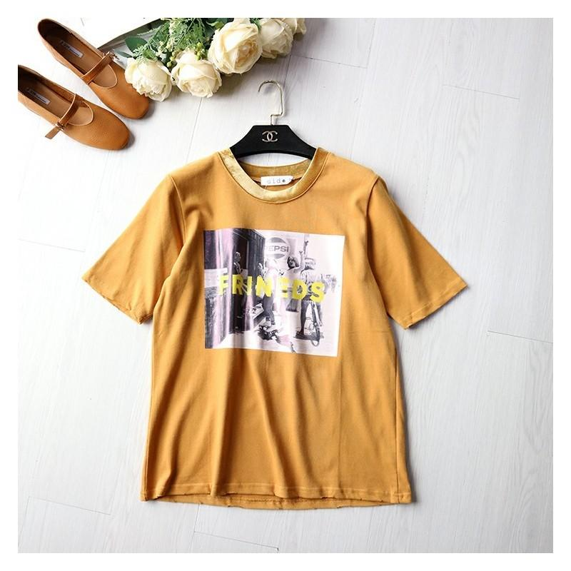 Wedding - Must-have Casual Appliques Scoop Neck Short Sleeves T-shirt - Lafannie Fashion Shop