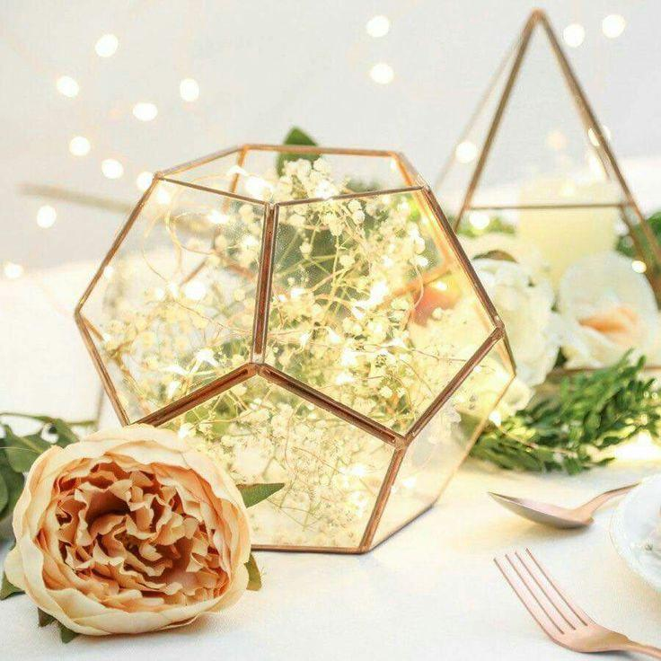زفاف - Glass Geometric Terrarium/ Wedding Table Decor/ Succulent Planter/Air Plants Glass Vase/Terrarium Kit/ Terrarium Gift/ Terrarium Centerpiece