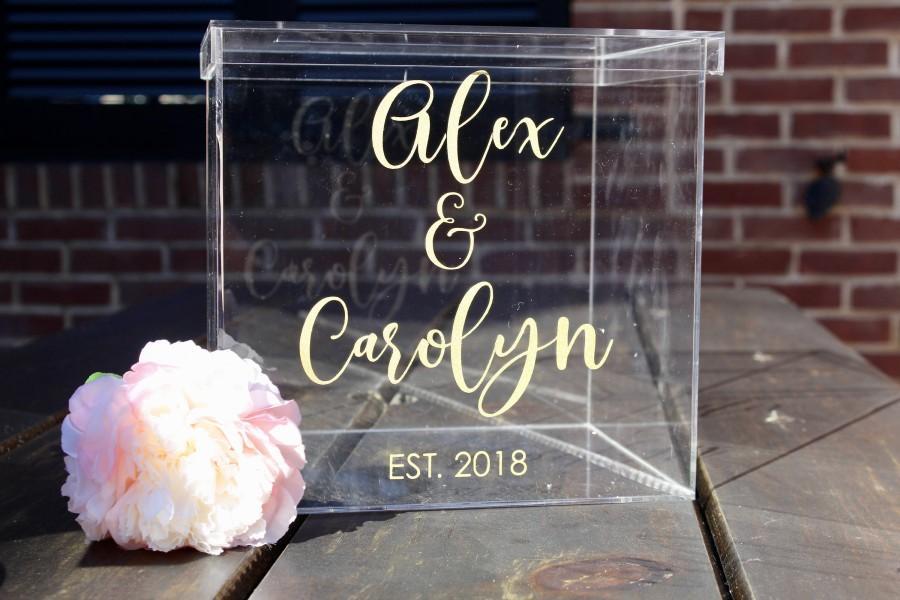 Personalized Wedding Card Box I Acrylic Card Box I Wedding Card Box ...
