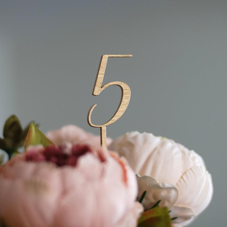 Mariage - Golden table numbers, Wedding table numbers, Silver wedding table numbers, DIY wedding, Golden wedding decor, Lasercut wood numbers, TNG-5