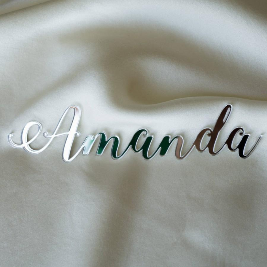 Свадьба - Laser cut names, Set of wedding place cards, wedding table signs, acrylic place cards, name cards, name cards wedding