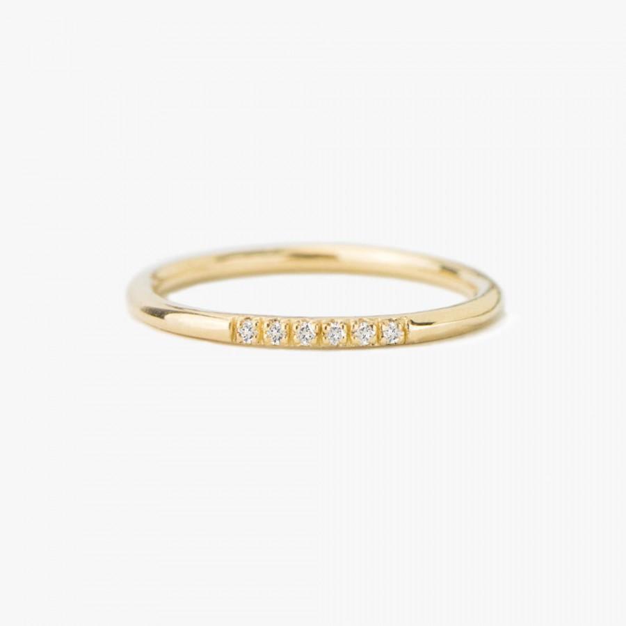 Свадьба - Diamond Ring, Half Eternity Ring, Wedding Band, Wedding Ring, Engagement Ring, Solid Gold Ring, 14K Gold Ring, Eternity ring, stacking ring,