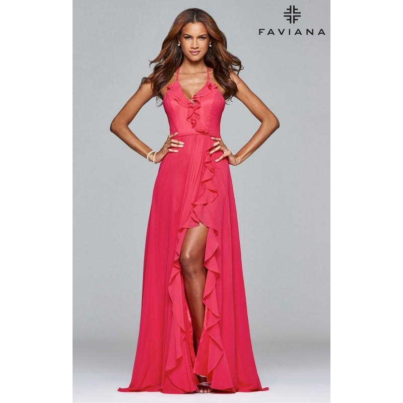 Mariage - Guava Faviana 7939 - Chiffon Simple Dress - Customize Your Prom Dress