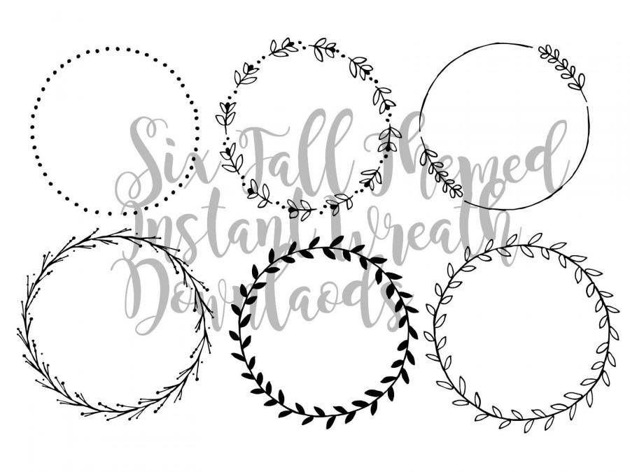 Wedding - Fall Cut Files for Cricut-Fall Wreath instant Downloads-Vector Images-Wreath Downloads-Instant Digital Downloads-Cut Files-Printable Files