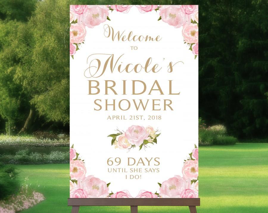 زفاف - Welcome to Bridal Shower Sign
