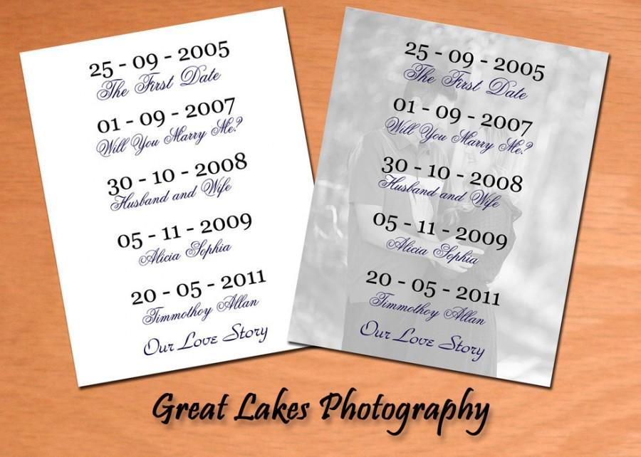 """زفاف - Personalized """"Our Love Story"""" Photo - Digital File"""
