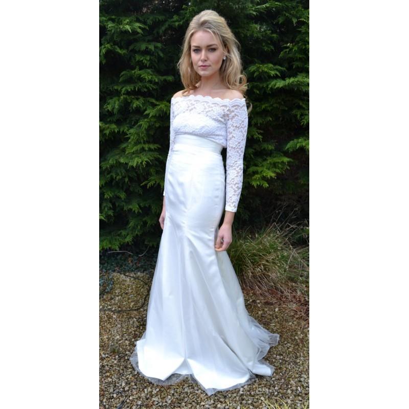 زفاف - Custom made 'Penelope' fitted mermaid skirt with tulle overlay separates for prom, wedding, formal, evening - Hand-made Beautiful Dresses