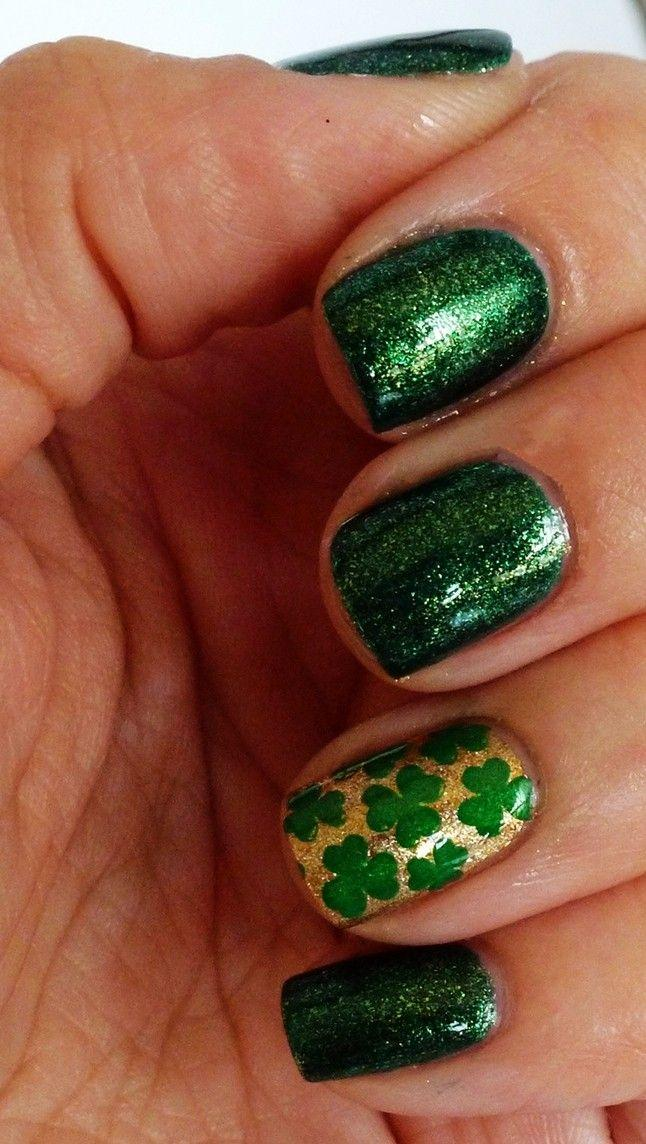 Mariage - Saint Patrick's Day Nail Designs