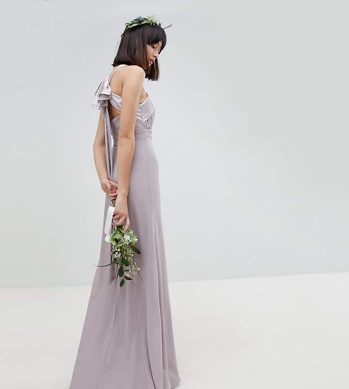Wedding - TFNC Bow Back Pleated Maxi Bridesmaid Dress