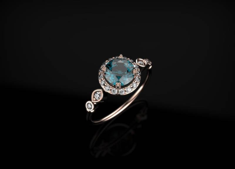 زفاف - Alexandrite Engagement Ring Rose Gold Engagement Ring Alexandrite Ring Alexandrite Gold Rose Gold Alexandrite Ring