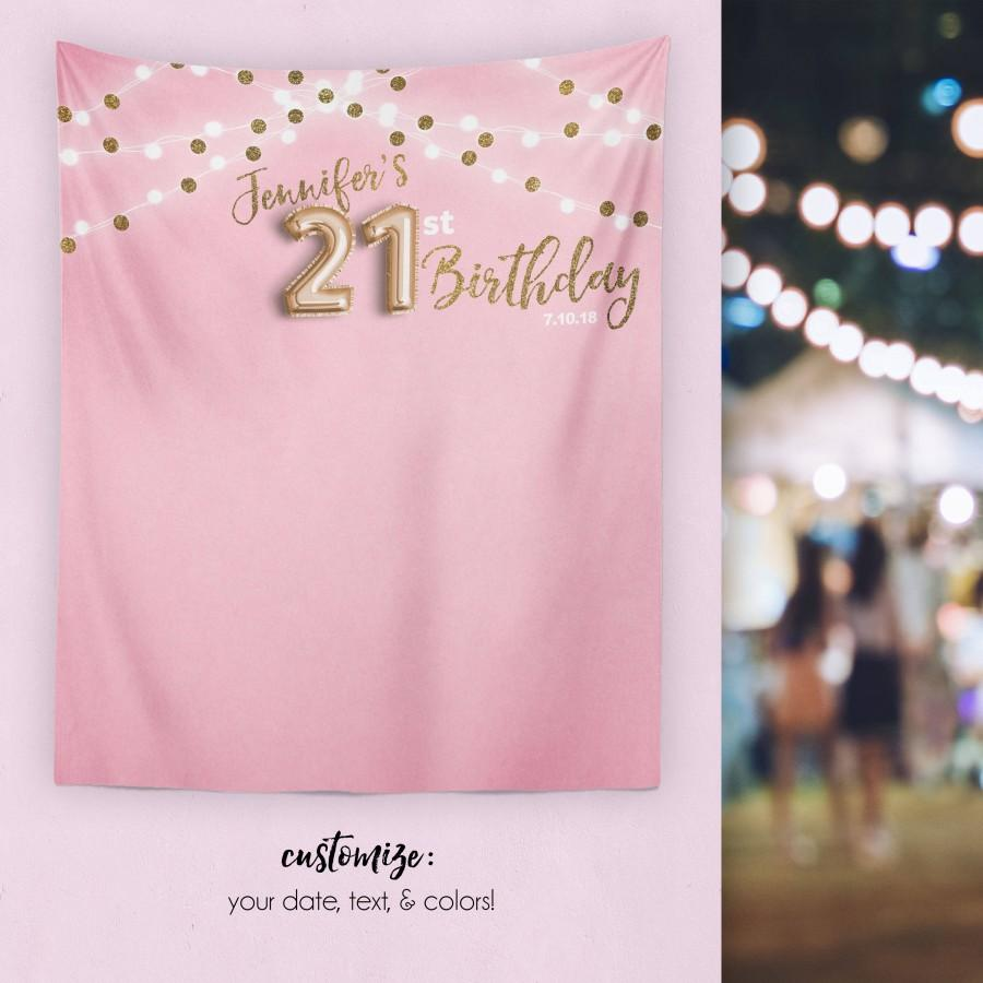 Mariage - 21st Birthday Decorations, 21st Birthday Banner, Finally 21 Decor, 21st Birthday Decor,  21st Birthday For Her/ H-T24-TP MAR1 AA3