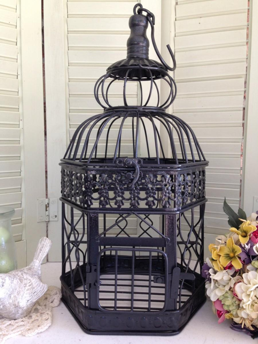 "Mariage - Sale - 14"" Wedding Bird Cage Card Holder/Wedding Card Box/Wedding Table Centerpiece/Wedding Card Holder/DIY Wedding Decor"
