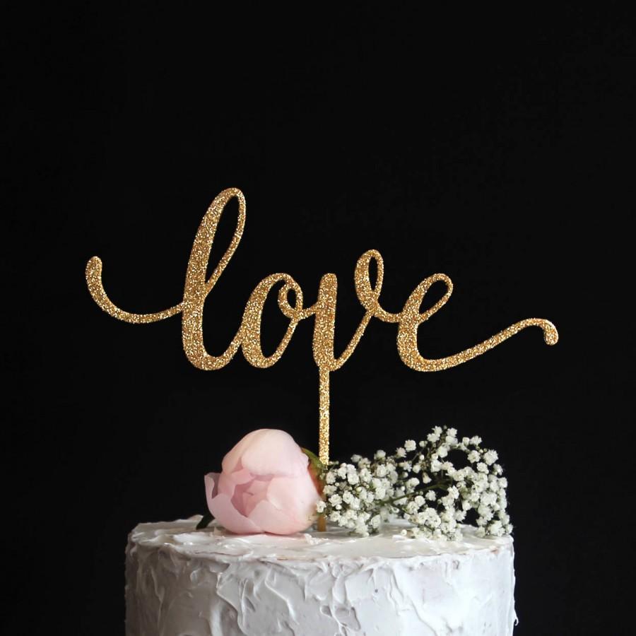 Свадьба - Love Cake Topper