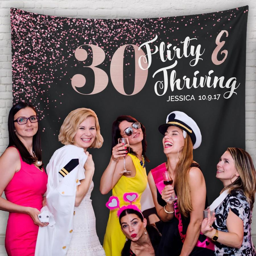 Dirty Thirty 30 Party 30th Birthday Decor Banner Decorations Backdrop H T25 TP MAR1 AA3