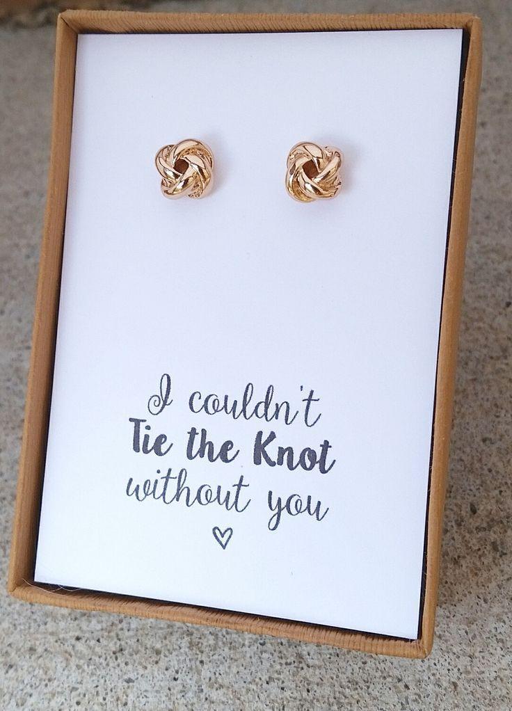 Свадьба - Knot Earrings