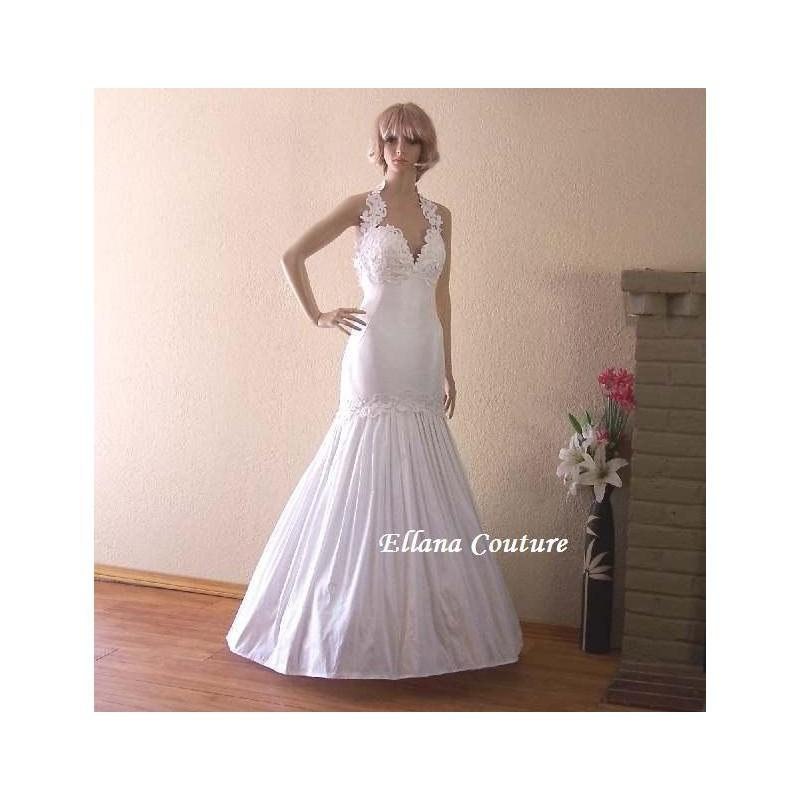 Свадьба - Monique - Vintage Inspired Floor Length Bridal Gown. Silk Doupioni Wedding Dress. - Hand-made Beautiful Dresses