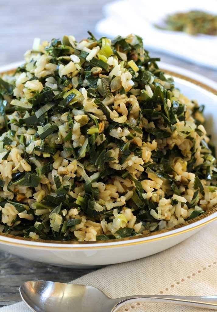 Mariage - Dirty Rice With Collards And Leeks (vegan And Gluten-free)