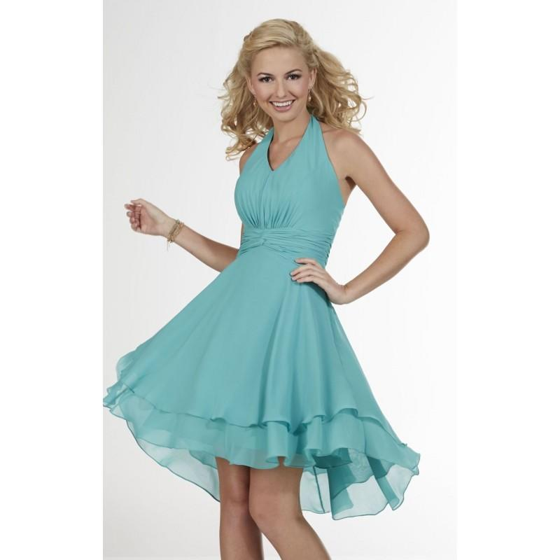 Mermaid Halter Neck Pleated Dress By Christina Wu Occasions - Color ...