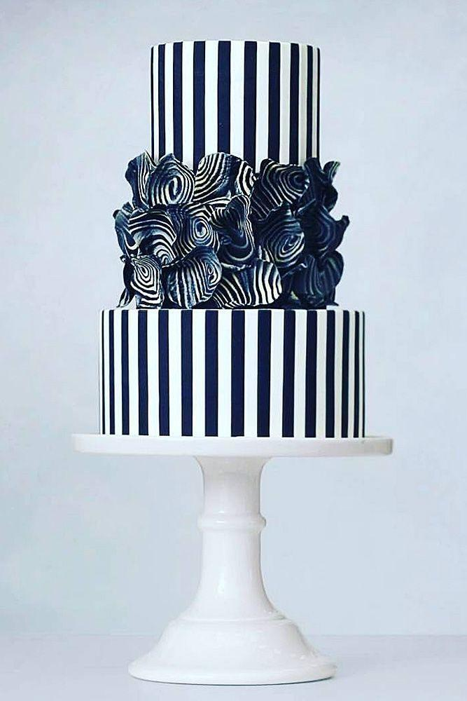 Wedding - 30 Black And White Wedding Cakes Ideas