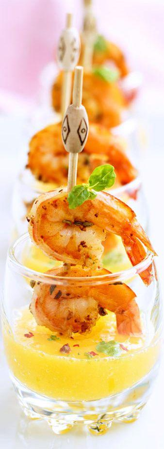 Wedding - Succulent Shrimp Tapas With Mango Shooters