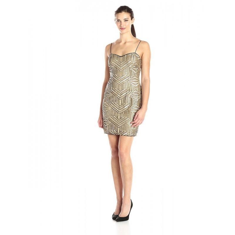 Aidan Mattox - Sequined Semi-Sweetheart Sheath Dress 151A95920 ...
