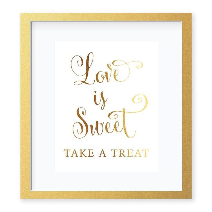 زفاف - Love Is Sweet Foil Art Print