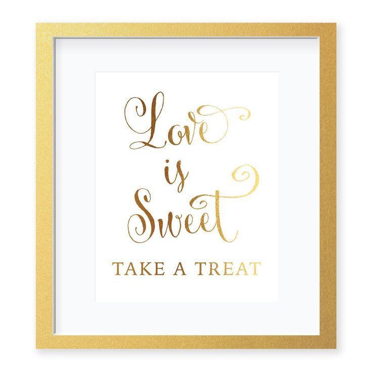 Wedding - Love Is Sweet Foil Art Print