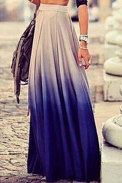زفاف - Ombre Long Skirt