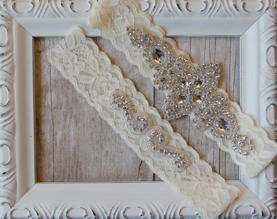Wedding - BEST SELLER Wedding Garter, Bridal Garter, Wedding Garter Set, Lace Bridal Garter Set, Ivory Bridal Garter Belt, wedding dress, custom