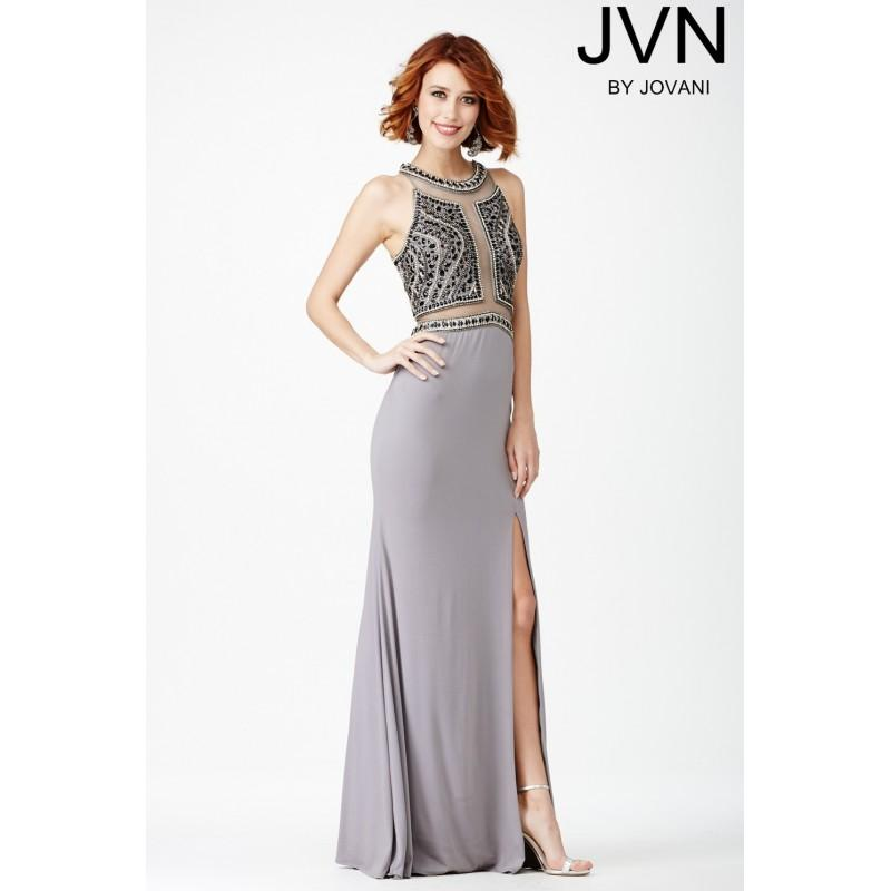 Wedding - Jovani Grey Jersey Dress JVN29121 - Wedding Dresses 2018,Cheap Bridal Gowns,Prom Dresses On Sale
