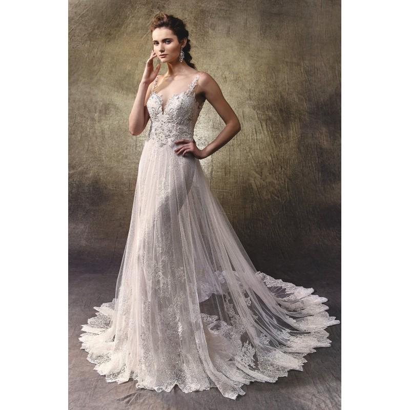 Wedding - Lovely by Enzoani - Tulle Floor Sweetheart  Illusion  Straps A-Line  Body-skimming Wedding Dresses - Bridesmaid Dress Online Shop