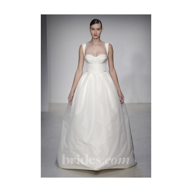 Mariage - Amsale - Fall 2013 - Greenwich Silk Ball Gown Wedding Dress with Corseted Bodice - Stunning Cheap Wedding Dresses
