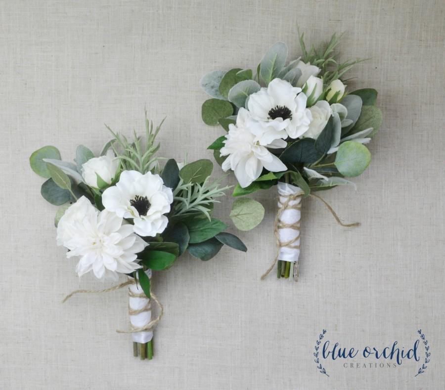 Свадьба - Bridesmaid Bouquet, Wedding Flowers, Silk Bridesmaid Bouquet, Bridesmaid Bouquets, Artificial Bouquet, Wedding Bouquet, Wedding Flower Set
