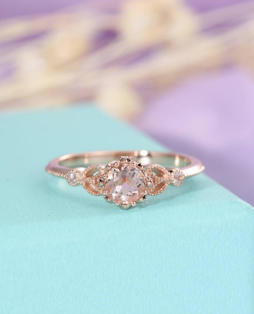 Morganite Ring Unique Engagement