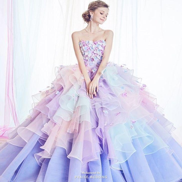 Wedding - Love At First Sight With This Kiyoko Hata Pastel Gown Featuring Delicately Feminine Embellishments!