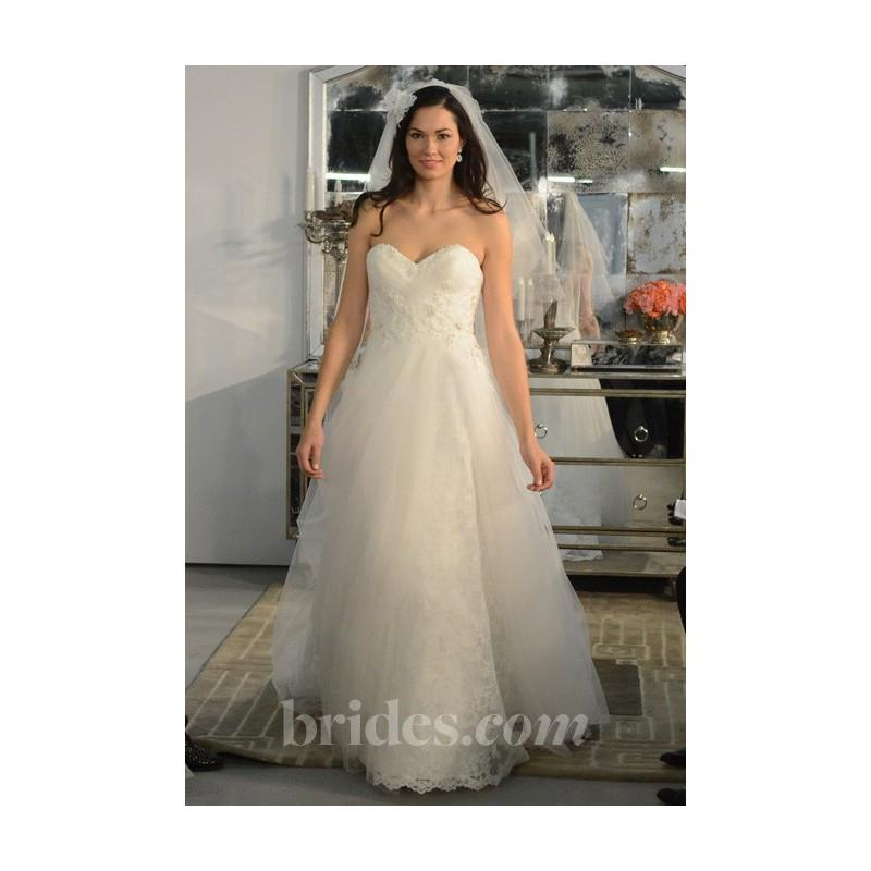 Hochzeit - Watters - Spring 2013 - Claudia Strapless Lace and Tulle Wedding Dress with Beaded Bodice - Stunning Cheap Wedding Dresses