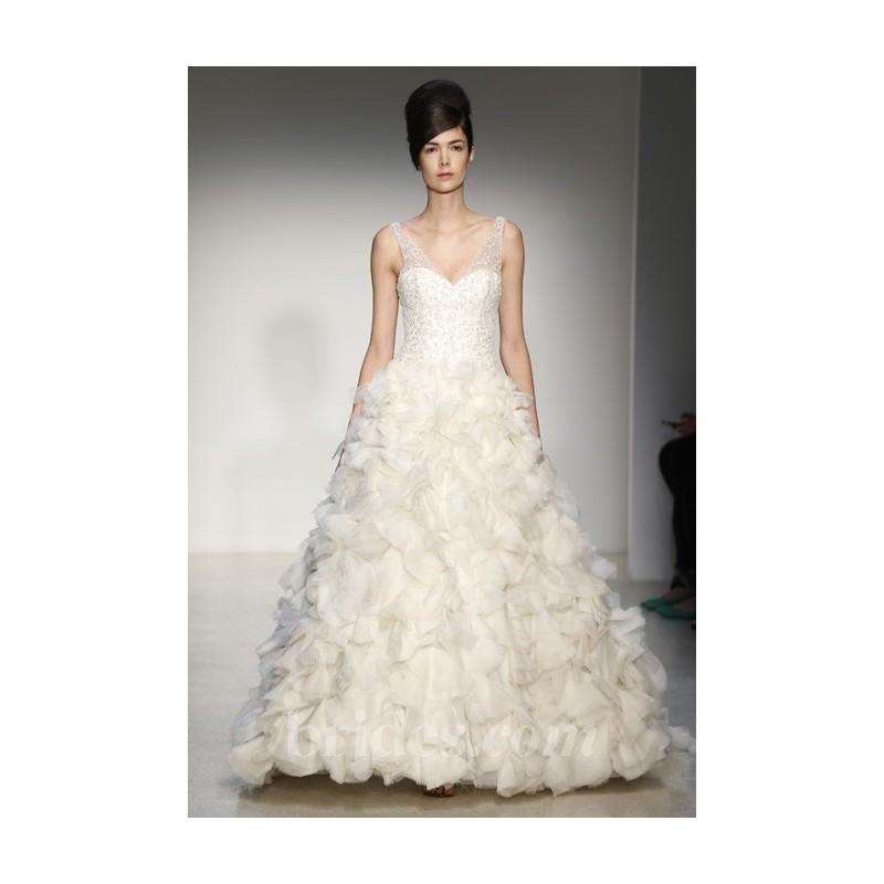 Wedding - Kenneth Pool - Fall 2013 - Vittoria Sleeveless Silk Organza Ball Gown Wedding Dress with Petal Skirt - Stunning Cheap Wedding Dresses