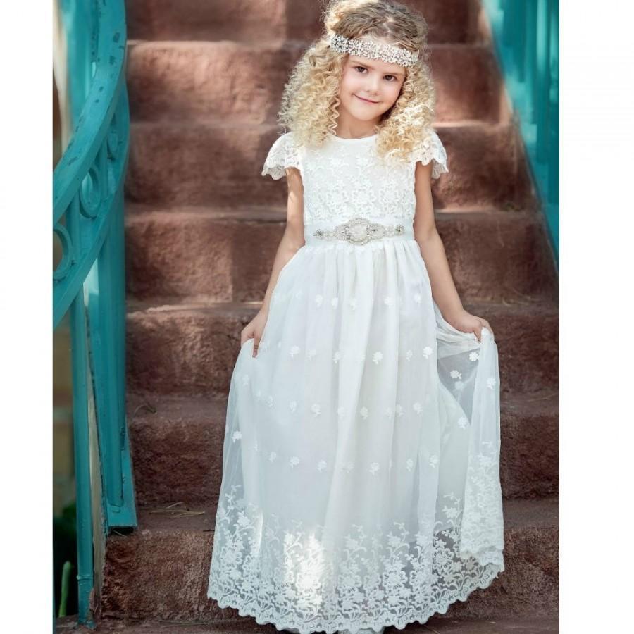 c24f9ef5d40 White Flower Girl Dress
