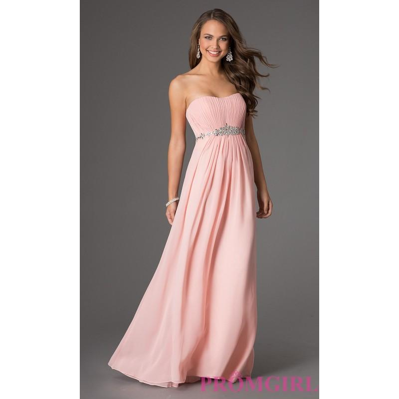 Mariage - Floor Length Strapless Dress - Brand Prom Dresses