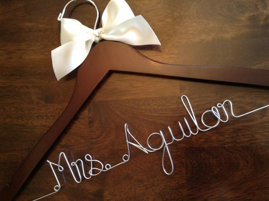 Mariage - HUGE SALE Personalized Hangers/ Bride/ Wedding Dress Hanger/Bridal Gift/ bridal party GIFTS/ wire hanger/ wedding hanger
