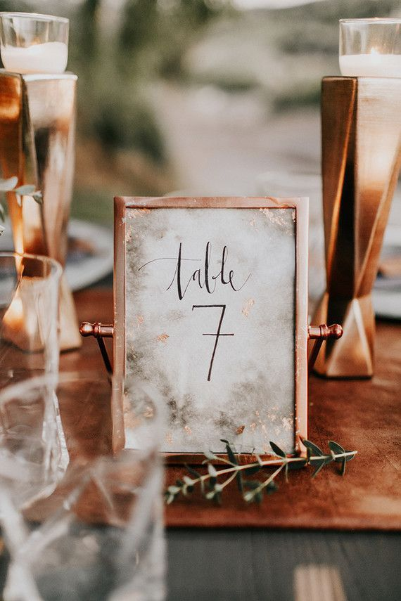 Mariage - Wedding Table Numbers