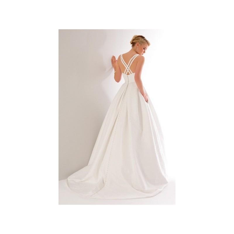 Свадьба - Vestido de novia de A Bela Noiva Modelo A01A7096 - 2015 Evasé Tirantes Vestido - Tienda nupcial con estilo del cordón
