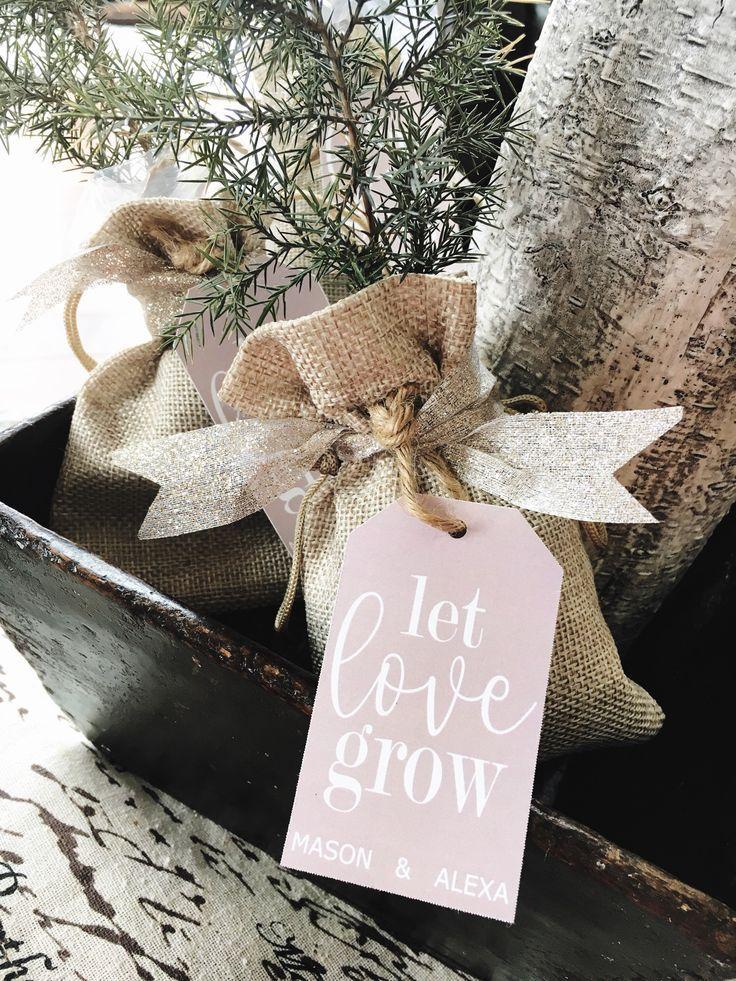Tree Wedding Favor Kits Wedding Favor Tags Let Love Grow