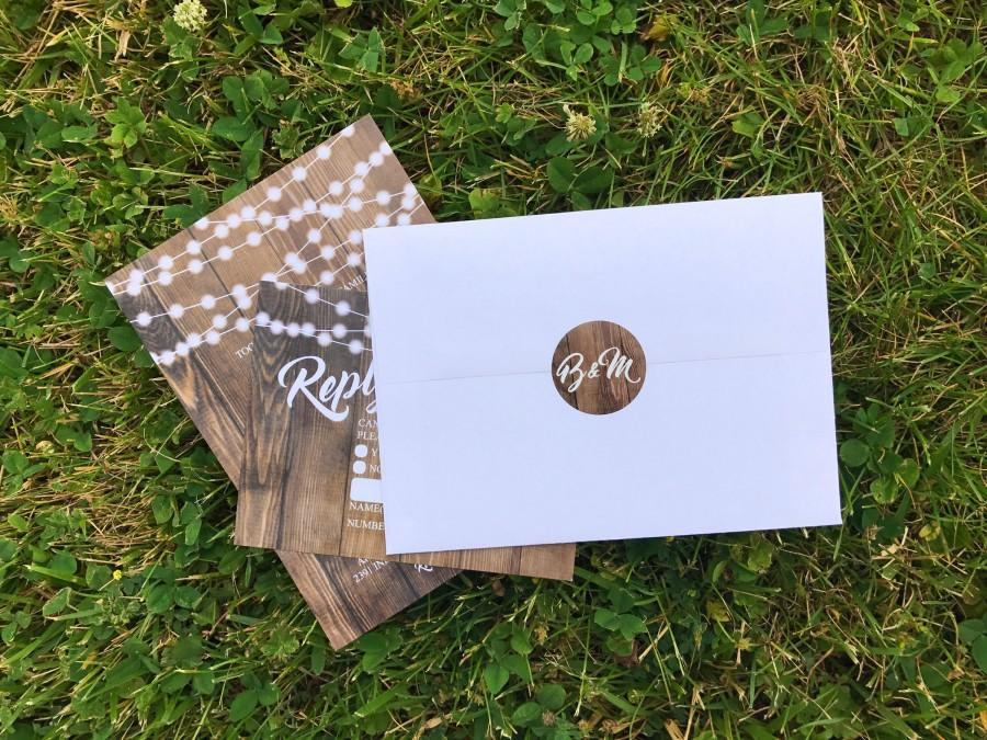 زفاف - Envelope Seals, Stickers, Labels, Monogram, Matching, Wedding Invitations, Elegant, Rustic, Vintage, Shabby Chic, Boho, Wood, Gold, Barnwood