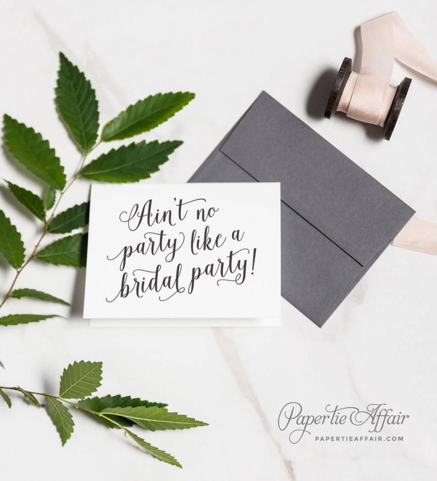 زفاف - Will You Be My Bridesmaid, Bridesmaid Proposal, Ain't No Party Like a Bridal Party, Maid of Honor, MOH Card