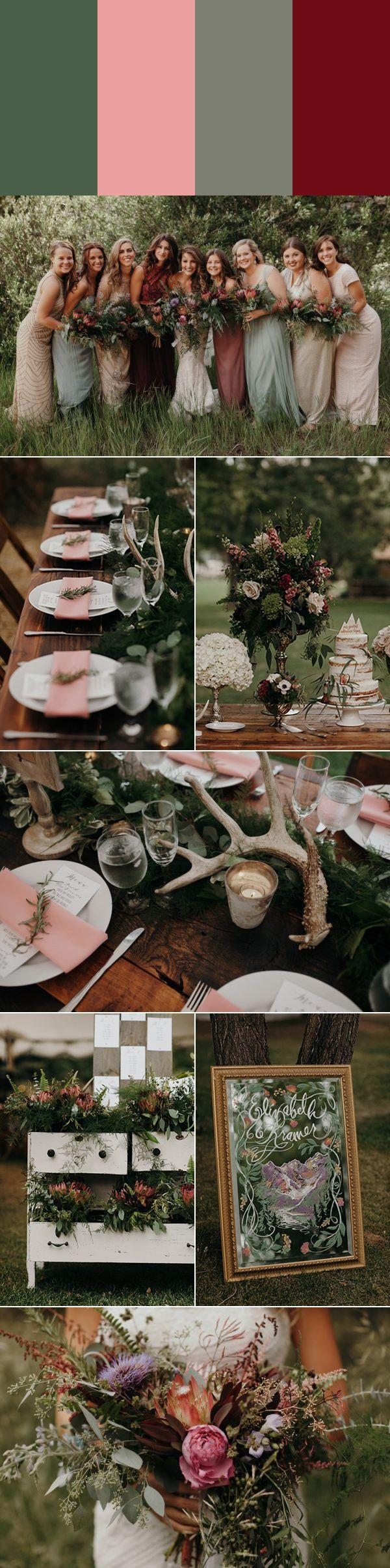 Mariage - 5 Green Wedding Palettes Inspired By Pantone's Color Of The Year