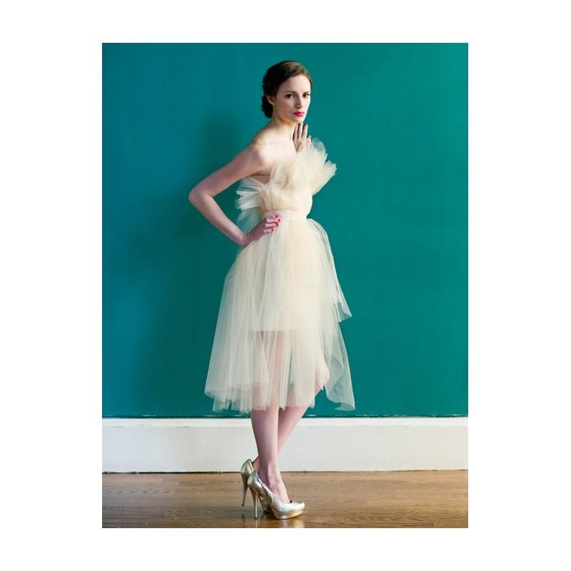 Carol Hannah - Spring 2013 - Bellevue Short Satin A-Line Wedding ...