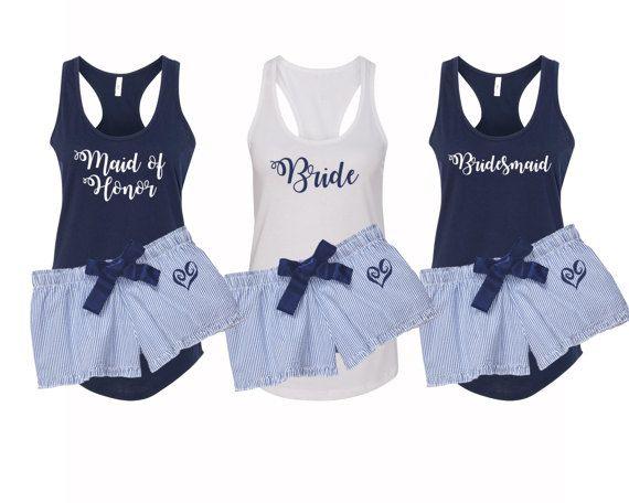 Bridal Party Pajamas, Bridesmaid Pjs, Bridal Pjs, Bridal Party Gifts ...